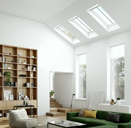 Keylite White Painted Pine Top Hung Roof Windows - Conservation Hi-Therm - CWWFE HT