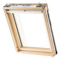 Keylite Clear Lacquered Pine Centre Pivot Roof Window - Triple Glazed - TCP KTG