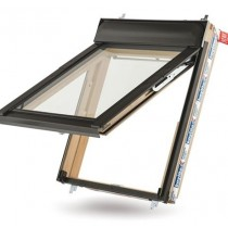 Keylite Clear Lacquered Pine Top Hung Roof Window - Hi-Therm Glazing - FE HT