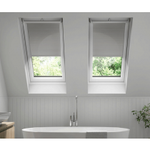Keylite Clear Lacquered Pine Top Hung Roof Window-Manual Integral Blind - FE I