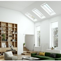 Keylite White Painted Pine Top Hung Roof Windows - Conservation Thermal Frosted- CWWFE TFR
