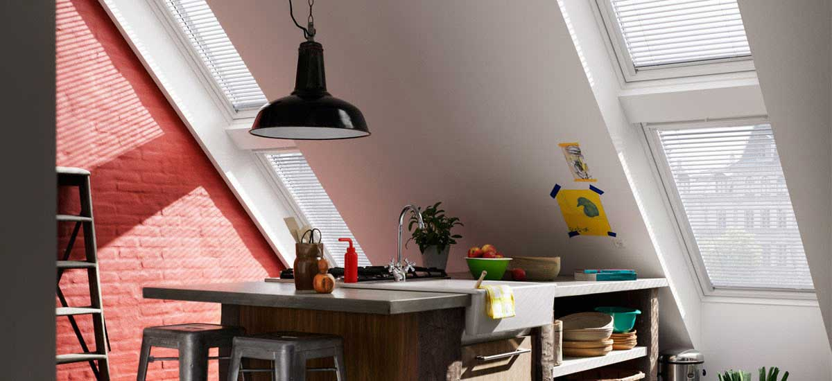 VELUX windows with venetian blinds